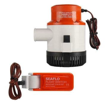 SEAFLO 24v 3000 GPH SUBMERSIBLE MARINE BILGE PUMP with AUTO FLOAT SWITCH CE